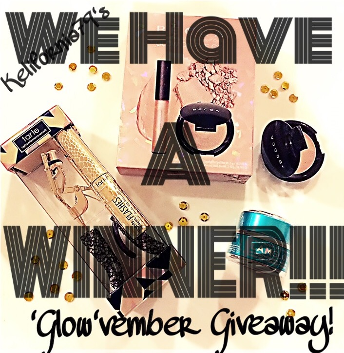 Glowvember Giveaway winner Kelifornia79