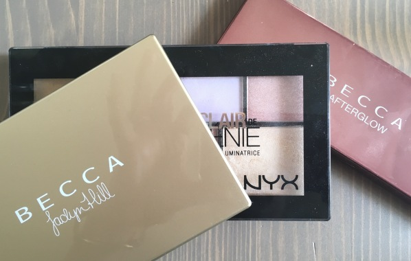 Becca & NYX Highlighting Palettes, strobing