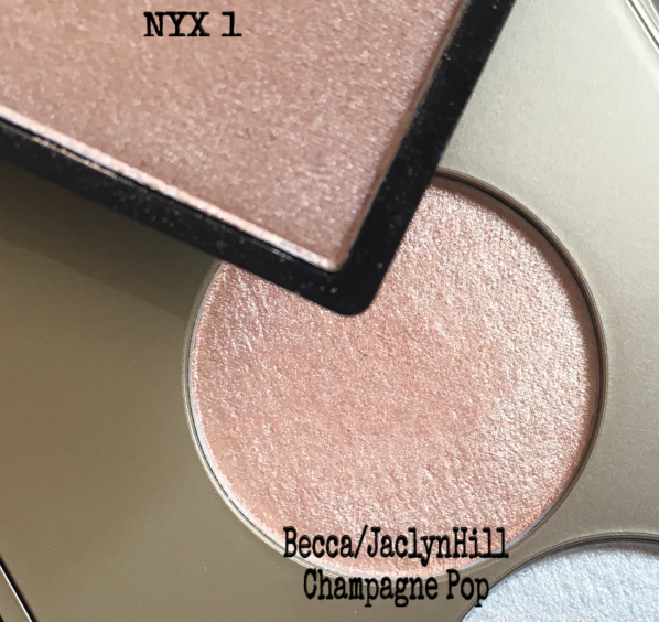 Champagne pop vs NYX swatch