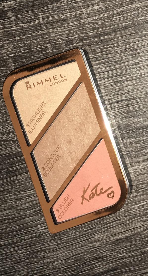 Rimmel by Kate contour blush highlight palette