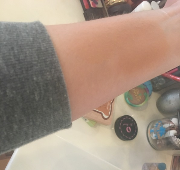 Bronzed & Poreless Arm Swatch Too Faced