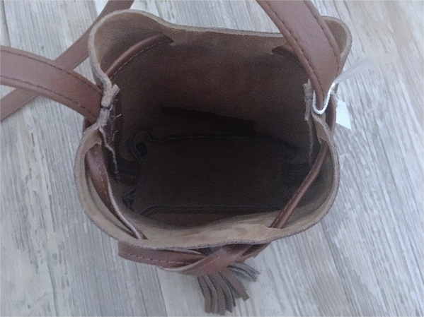 Inside Shaffer LA Leather Bucket Bag