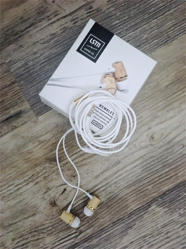 LSTN Sound Co Wembley real wood earbuds
