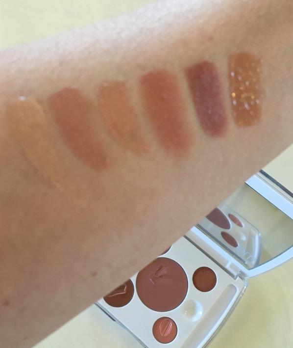 em Cosmetics Shade play lip color mixing palette nude swatches