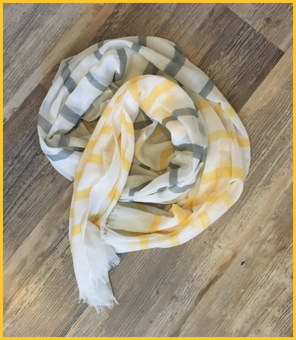 Wantable Collection Brooke Scarf Yellow April 2016