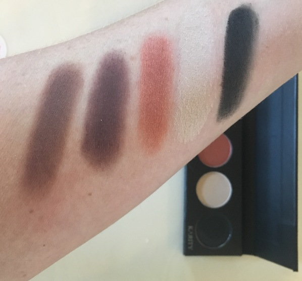 Karity 5 shadow palette swatches