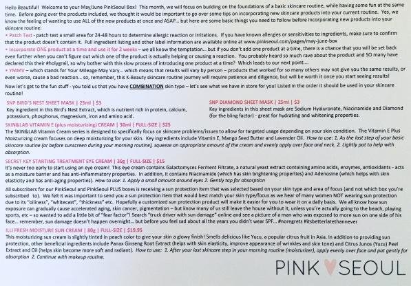 Pink Seoul Info Card 1