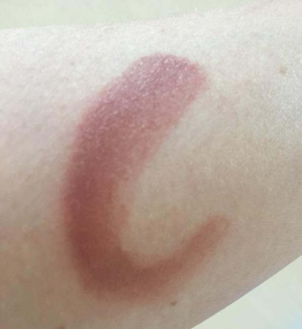 Pixi matte luster lipstick swatch