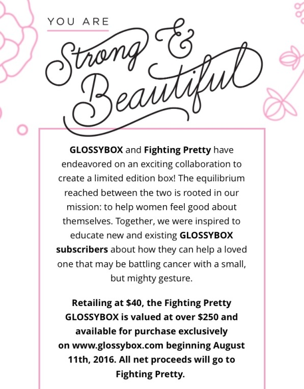 Glossybox fighting Pretty