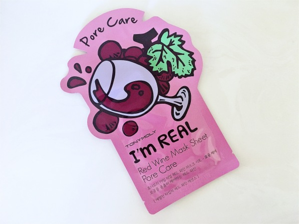 tony moly pore care wine sheet mask
