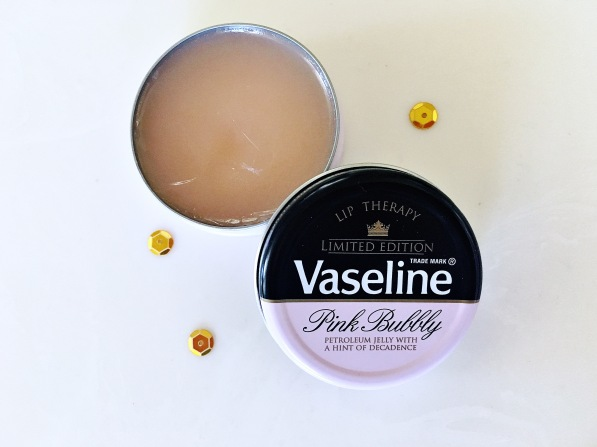 limited edition Vaseling pink bubble lip treatment balm