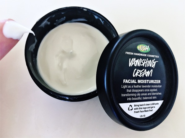 lush vanishing cream face moisturizer