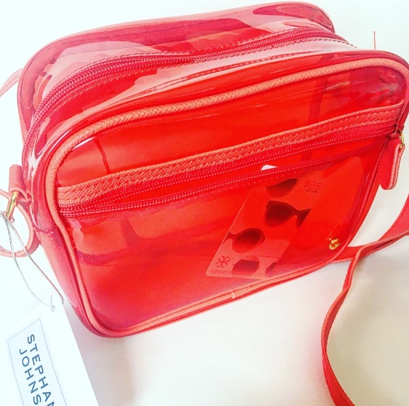 red translucent stephanie Johnson Camera Bag